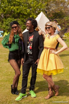 Lemn Sissay making acquaintances with the inhabitants of the Secret Garden