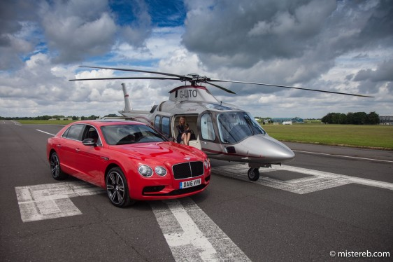 Lucia K and a Westland AW 109S Grand (oh yeah - and a Bentley)