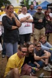 The crowd appreciating Nico Yearwood